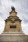 Roger De Lauria Statue på Balconen Tarragona Spanien Arkivbild
