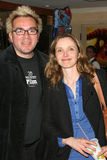 Roger Durling,Julie Delpy. Roger Durling and Julie Delpy at the 'Before Sunset' Q & A With Julie Delpy, as part of the 20th Santa Barbara International Film royalty free stock image