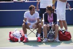 Roger et Mirka Federer Images stock
