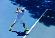 Roger Federer ćwiczyć Zdjęcia Royalty Free