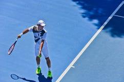 Roger Federer ćwiczyć Zdjęcie Royalty Free