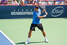 Roger Federer. Playing at Rogers Cup 2011 in Montreal, Canada Stock Image