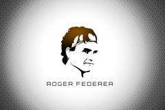 Roger Federer illustrazione vettoriale