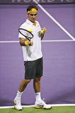 Roger Federer in action Royalty Free Stock Images