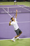 Roger Federer in action Stock Image