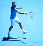 Roger Federer all'australiano apre 2010 Fotografie Stock