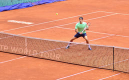 Roger Federer at the ATP Mutua Open Madrid Stock Image