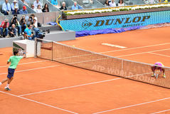 Roger Federer at the ATP Mutua Open Madrid Royalty Free Stock Image