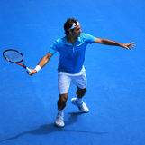 Roger Federer at the Australian Open 2010 royalty free stock photography