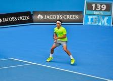 Roger Federer bawić się w australianie open Obraz Royalty Free