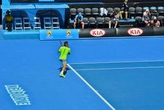Roger Federer bawić się w australianie open Fotografia Royalty Free