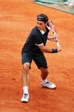 Roger Federer bei Roland Garros 2008 Lizenzfreie Stockfotos