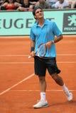 Roger Federer bei Roland Garros Lizenzfreie Stockfotografie
