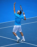 Roger Federer bij Australische Open 2010 stock fotografie