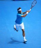 Roger Federer bij Australische Open 2010 stock afbeelding