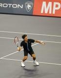 Roger Federer de Suiza en acciones Foto de archivo