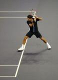 Roger Federer de Suiza en acciones Fotografía de archivo libre de regalías