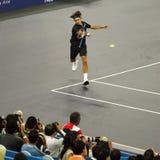 Roger Federer de Switzerland nas ações Fotos de Stock Royalty Free