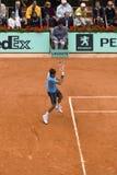 Roger Federer della Svizzera nell'azione al francese Fotografie Stock