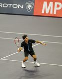 Roger Federer della Svizzera nelle azioni Fotografia Stock