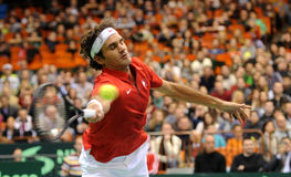 Roger Federer. At Devis cup  2014 Stock Photography