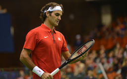 Roger Federer. At Devis cup  2014 Stock Photo