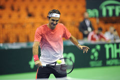 Roger Federer. At Devis cup  2014 Stock Photos