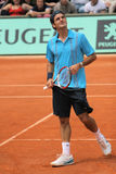 Roger Federer em Roland Garros Fotografia de Stock Royalty Free