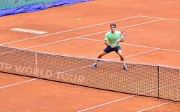 Roger Federer en el ATP Mutua Madrid abierta Imagen de archivo