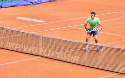 Roger Federer en el ATP Mutua Madrid abierta Imágenes de archivo libres de regalías