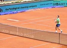 Roger Federer en el ATP Mutua Madrid abierta Imagenes de archivo