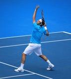 Roger Federer en el australiano abre 2010 Imagen de archivo