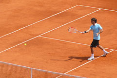 Roger Federer at Masters Series Montecarlo Stock Photography