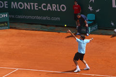 Roger Federer at Masters Series Montecarlo Stock Photos