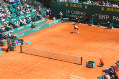 Roger Federer at Montecarlo Masters Series Stock Photography