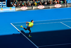 Roger Federer playing in the Australian Open Stock Image