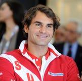 Roger Federer Portrait. Roger Federer at Devis cup  2014 Stock Images