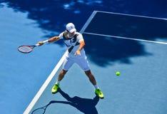 Roger Federer practicing Stock Photos