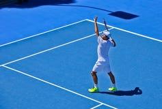 Roger Federer practicing Stock Photo