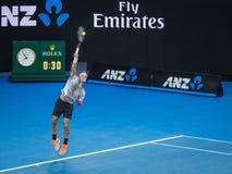 Roger Federer przy australianem open 2017 Tenisowych turniejów Zdjęcia Royalty Free