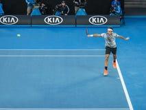 Roger Federer przy australianem open 2017 Tenisowych turniejów Fotografia Royalty Free