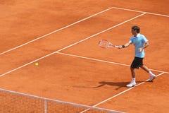 Roger federer serię wykonuje Montecarlo Fotografia Stock