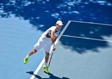 Roger Federer serving Royalty Free Stock Photos