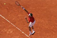 Roger Federer (SUI) in Roland Garros 2011 Royalty-vrije Stock Foto