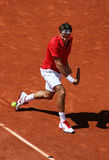 Roger Federer (SUI) in Roland Garros 2011 Royalty-vrije Stock Afbeeldingen