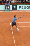Roger Federer of Switzerland in action at French Royalty Free Stock Photos