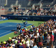 Roger Federer at the 2017 US Open, New York City, New York, USA stock photography