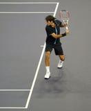 Roger Federer von der Schweiz in den Tätigkeiten Lizenzfreie Stockfotografie