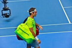 Roger Federer w australianie open Zdjęcia Royalty Free