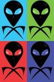 Roger gai extraterrestre Photos stock